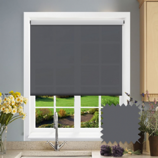 Dark Grey Roller Blind - Astral Mono